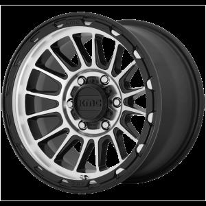 16x7  KMC Wheels KM542 Impact Satin Black Machined 30  offset  72.56  hub