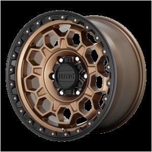 17x8  KMC Wheels KM545 Trek Matte Bronze With Black Lip 20  offset  106.1  hub