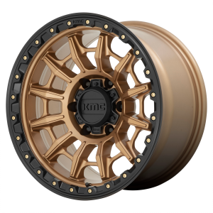 16x8  KMC Wheels KM547 Carnage Matte Bronze With Black Lip 0  offset  106.1  hub