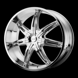 20x9  KMC Wheels KM665 Surge Chrome 30  offset  72.6  hub
