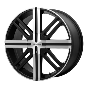 16x7  KMC Wheels KM675 Splice Satin Black With Machined Face 35  offset  72.6  hub