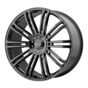 19x8.5  KMC Wheels KM677 D2 Gloss Black 35  offset  72.6  hub