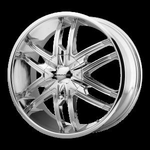 24x9.5  KMC Wheels KM678 Splinter Chrome 15  offset  72.6  hub