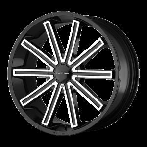 20x8.5  KMC Wheels KM681 Nerve Gloss Black Machined 15  offset  74.1  hub