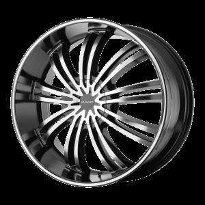 20x8.5  KMC Wheels KM682 Spider Gloss Black Machined 35  offset  100.5  hub