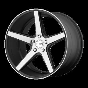 18x8  KMC Wheels KM685 District Satin Black Machined Face 38  offset  72.6  hub