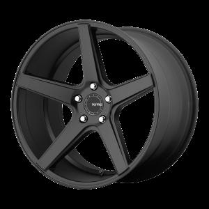 18x8  KMC Wheels KM685 District Satin Black 38  offset  66.56  hub