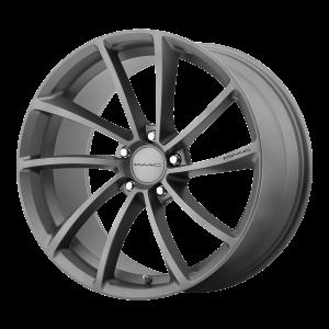 18x8  KMC Wheels KM691 Spin Gun Metal 35  offset  72.6  hub