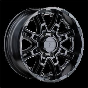 16x8.5  Level 8 Wheels Slingshot Matte Black -10  offset  108  hub
