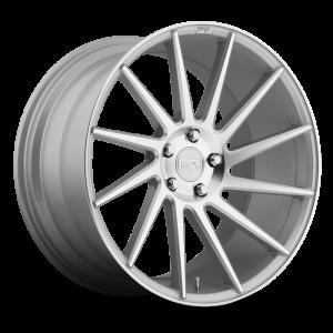 19x8.5 5x114.3 Niche Wheels M112 Surge Gloss Silver Machined 35 offset 72.56 hub