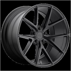 17x8 5x100 Niche Wheels M117 Misano Matte Black 40 offset 66.06 hub