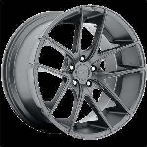 17x8 5x114.3 Niche Wheels M129 Targa Matte Gun Metal 40 offset 72.56 hub