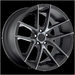 17x8 5x108 Niche Wheels M130 Targa Matte Black Double Dark Tint 40 offset 63.4 hub