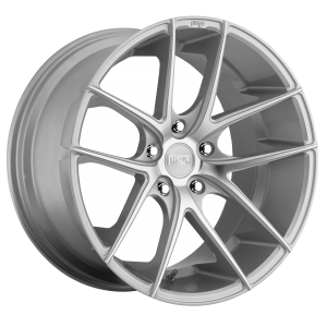 17x8 5x112 Niche Wheels M131 Targa Gloss Silver Machined 40 offset 66.56 hub