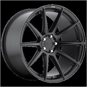 18x8 5x100 Niche Wheels M147 Essen Matte Black 40 offset 66.06 hub