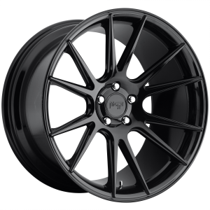 20x10 5x114.3 Niche Wheels M152 Vicenza Gloss Black 40 offset 72.56 hub