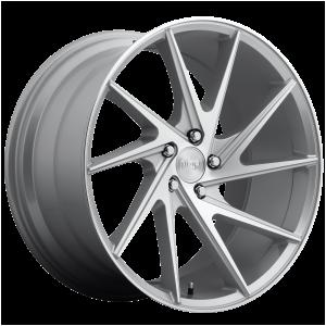 20x10.5 5x114.3 Niche Wheels M162 Invert Gloss Silver Machined 45 offset 72.56 hub