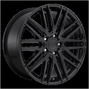 20x10.5 5x114.3 Niche Wheels M164 Anzio Gloss Black 45 offset 72.56 hub