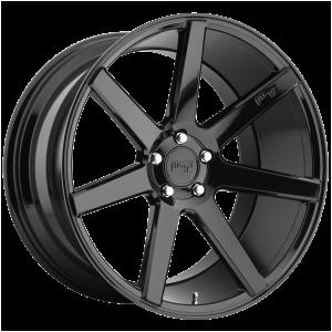 18x8 5x114.3 Niche Wheels M168 Verona Gloss Black 40 offset 72.56 hub