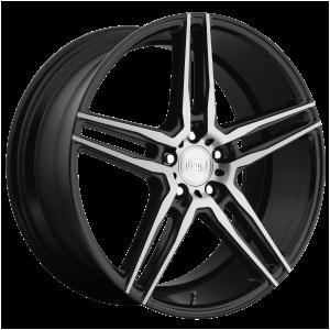 17x8 5x112 Niche Wheels M169 Turin Matte Black Machined 40 offset 66.56 hub