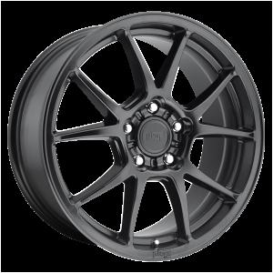 17x8 5x112 Niche Wheels M174 Messina Matte Black 40 offset 66.56 hub