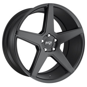 20x10 5x114.3 Niche Wheels M185 Carini Matte Black 40 offset 72.56 hub