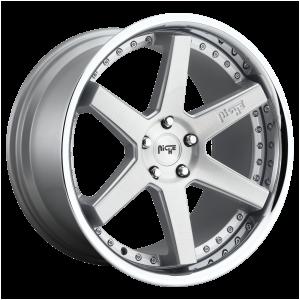 20x10.5 5x114.3 Niche Wheels M193 Altair Gloss Silver 40 offset 72.56 hub