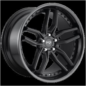 19x8.5 5x112 Niche Wheels M194 Methos Gloss Black Matte Black 42 offset 66.56 hub