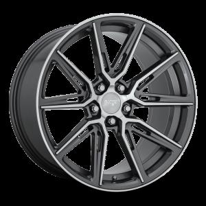 20x10.5 5x112 Niche Wheels M220 Gemello Gloss Anthracite Machined 30 offset 66.5 hub