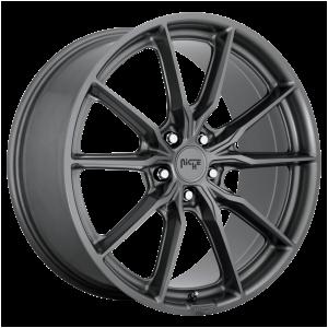 18x8 5x112 Niche Wheels M239 Rainier Matte Anthracite 27 offset 66.5 hub
