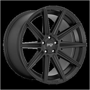 20x10.5 5x112 Niche Wheels M242 Tifosi Matte Black 27 offset 66.5 hub