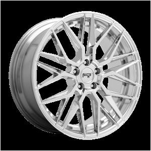 18x8 5x112 Niche Wheels M249 Gamma Chrome 42 offset 66.5 hub