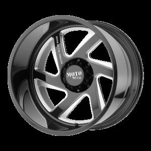 22x14 5x127 Moto Metal Offroad Wheels MO400 Gloss Black Milled -76  offset  71.5  hub