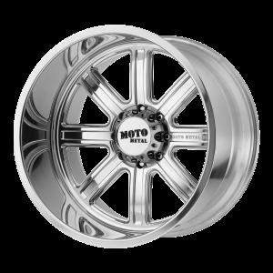 20x10 5x139.7 Moto Metal Offroad Wheels MO402 Polished -24  offset  108  hub