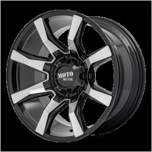 20x10 5x127/5x139.7 Moto Metal Offroad Wheels MO804 Spider Gloss Black Machined -18  offset  78.1  hub