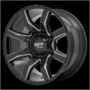 20x10 5x127/5x139.7 Moto Metal Offroad Wheels MO804 Spider Gloss Black Milled -18  offset  78.1  hub