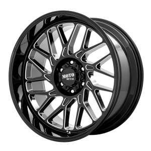 20x10 5x127 Moto Metal Offroad Wheels MO805 Gloss Black Milled -18  offset  71.5  hub