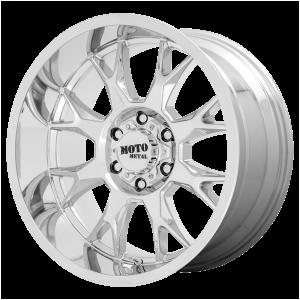 20x10 5x127 Moto Metal Offroad Wheels MO806 Chrome -18  offset  71.5  hub