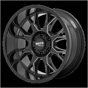 20x10 5x127 Moto Metal Offroad Wheels MO806 Gloss Black Milled -18  offset  71.5  hub