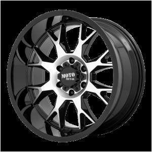 20x10 5x127 Moto Metal Offroad Wheels MO806 Gloss Black Machined -18  offset  71.5  hub