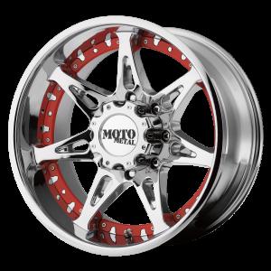18x10 5x139.7 Moto Metal Offroad Wheels MO961 Chrome -24  offset  108  hub