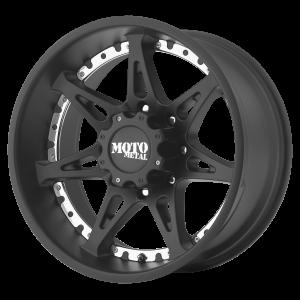 18x10 5x127 Moto Metal Offroad Wheels MO961 Satin Black -24  offset  78.3  hub