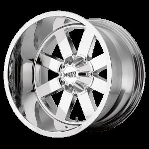 17x10 5x127/5x139.7 Moto Metal Offroad Wheels MO962 Chrome -24  offset  78.3  hub