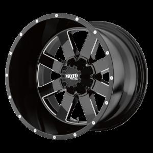 17x10 5x127/5x139.7 Moto Metal Offroad Wheels MO962 Gloss Black Milled -24  offset  78.1  hub