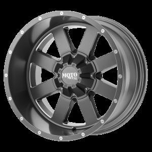 17x10 5x127/5x139.7 Moto Metal Offroad Wheels MO962 Satin Gray Milled -24  offset  78.3  hub