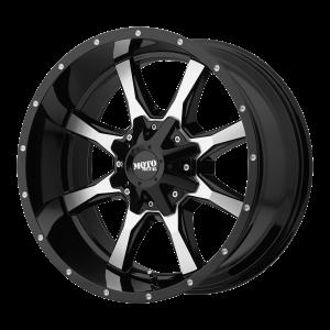 16x7 5x130 Moto Metal Offroad Wheels MO970 Gloss Black Machined Face 42  offset  84.1  hub