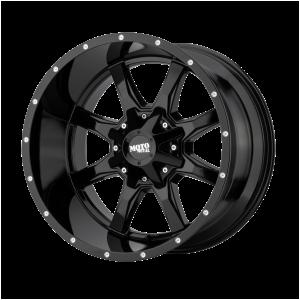 16x7 5x130 Moto Metal Offroad Wheels MO970 Gloss Black With Milled Lip 42  offset  84.1  hub