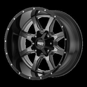 16x7 5x130 Moto Metal Offroad Wheels MO970 Gloss Gray Center Gloss Black Lip 42  offset  84.1  hub