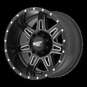 17x9 6x135 Moto Metal Offroad Wheels MO975 Satin Black Milled -12  offset  87.1  hub