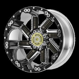 20x10 8x165.1 Moto Metal Offroad Wheels MO979 Buckshot Chrome With Gun Metal Inserts -24  offset  125.5  hub